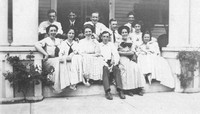 1910 - Edward Williams in front center, Aunt Ida (Wons) Smith sister - just now left (arm resting)